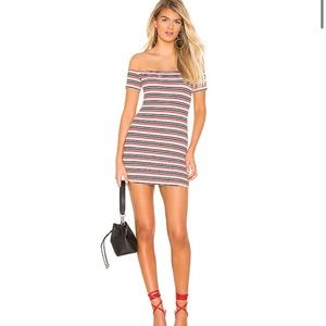 NWT Indy Mini Dress in Navy Stripe